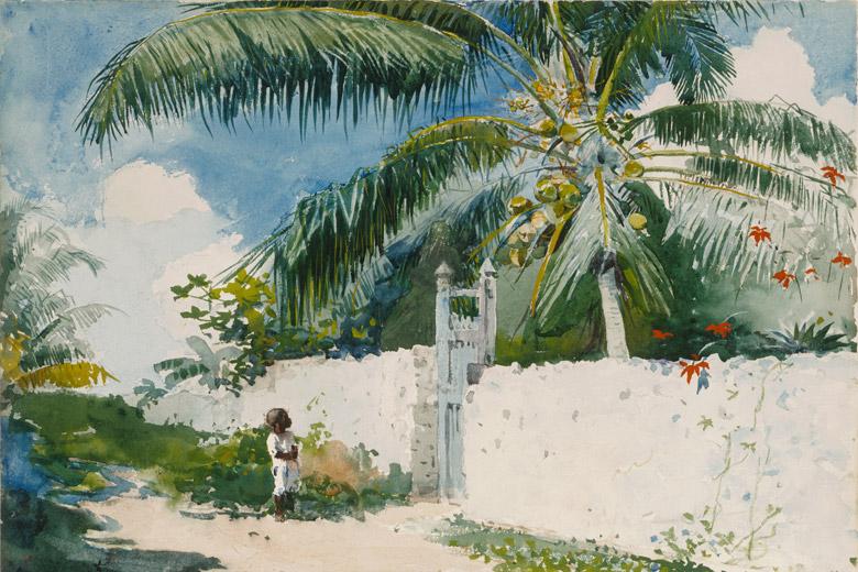 A Garden in Nassau, 1885. Winslow Homer